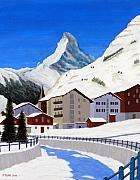 Switzerland Painting Originals - Matterhorn-Zermatt by Frederic Kohli