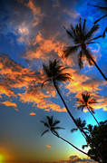 Beach Photograph Posters - Maui Sunset Poster by Kelly Wade