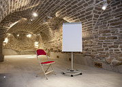 Basement Posters - Meeting Rooms Vaulted Ceilings Poster by Jaak Nilson