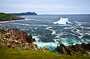 Horizon Metal Prints - Melting iceberg Metal Print by Elena Elisseeva