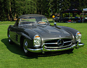 Muscle Car Photos - Mercedes 300 SL by Peter Piatt