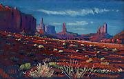 Park Pastels Prints - Mesa Shadows Print by Donald Maier