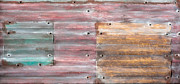 Rusted Tin Roof Photos - Metal background by Tom Gowanlock
