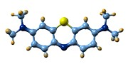 Methylene Blue, Molecular Model Print by Dr Mark J. Winter