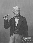 History Of Science Prints - Michael Faraday, English Physicist Print by Science Source