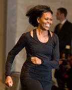  Michelle Obama Prints - Michelle Obama At A Public Appearance Print by Everett