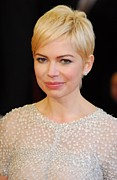 Stud Earrings Prints - Michelle Williams At Arrivals For The Print by Everett