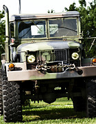 Duty Photo Framed Prints - Military truck Framed Print by Blink Images