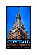 Democrat Digital Art Prints - Milwaukee City Hall Print by Geoff Strehlow