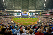 Milwaukee Brewers Prints - Milwaukees Miller Park Print by Steve Sturgill