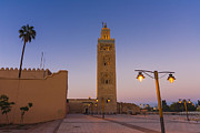 Town Square Framed Prints - Minaret Of The Koutoubia Mosque, Marrakesh Framed Print by Nico Tondini