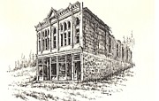 Towns Drawings - Miners Union Hall Granite Ghost Town Montana by Kevin Heaney