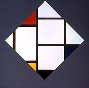 Piet Prints - Mondrian: Composition Print by Granger