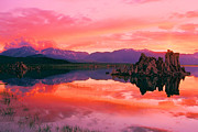 Mono Lake Posters - Mono Lake Fiery Sunset Poster by Adam Jewell