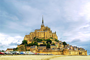 Fortification Prints - Mont Saint Michel Print by Elena Elisseeva