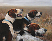 Sporting Art Prints - Moore County Hounds Print by Meridith Martens