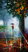 Path Painting Originals - Morning Fog by Leonid Afremov