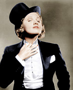 Pocket Square Prints - Morocco, Marlene Dietrich, 1930 Print by Everett