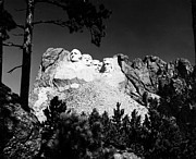 Portrait Sculpture Photograph Framed Prints - Mount Rushmore Framed Print by Granger