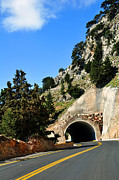 Mountain Road Photo Framed Prints - Mountain tunnel. Framed Print by Fernando Barozza