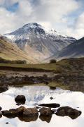 Mountain Scene Prints - Mountains And Lake At Lake District Print by John Short