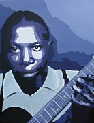 Blues Painting Originals - Mr Johnson by Rock Rivard