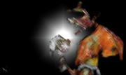 Boxer Digital Art - Muay Thai Series by Fools Ink