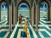 Perspective Paintings - Musicians in the Temple by Gloria Cigolini-DePietro