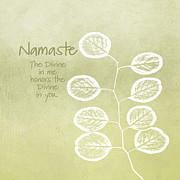 Namaste Print by Linda Woods