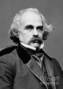 Nathaniel Hawthorne, American Author Print by Photo Researchers