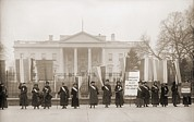 Women Suffrage Prints - National Womens Party Demonstration Print by Everett
