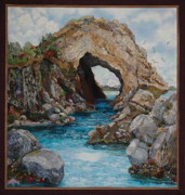 Seascape Tapestries - Textiles Framed Prints - Natural Wonders Framed Print by Kathy McNeil
