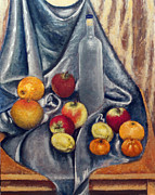 Grapefruit Paintings - Naturemorte by Vladimir Kezerashvili