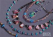 Jewelry Drawings Originals - Navajo Jewelry by Donald Maier