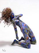 Nude Girl Mixed Media - Nectar a sculpture by Adam Long by Adam Long