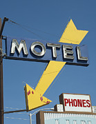 Drive In Style Posters - Neon Motel Sign Poster by Frank Short