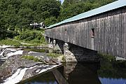 New Hampshire Posters - New Hampshire Covered Bridge Poster by Stan and Anne Foster