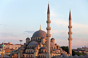 Religious Structure Prints - New Mosque in Istanbul Print by Artur Bogacki