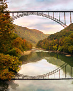 Mary Almond Art - New River Gorge Bridge by Mary Almond