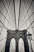 Thomas Richter Metal Prints - New York City - Brooklyn Bridge Metal Print by Thomas Richter