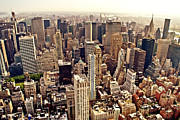 Skylines Metal Prints - New York City Metal Print by Vivienne Gucwa