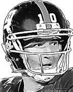 New York Giants  Eli Manning Print by Jack Kurzenknabe