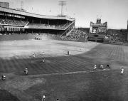 Throw Framed Prints - New York: Polo Grounds Framed Print by Granger