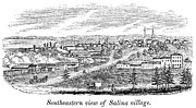 American City Prints - New York: Salina, 1841 Print by Granger
