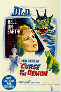 1950s Poster Art Framed Prints - Night Of The Demon, Aka Curse Of The Framed Print by Everett