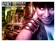 "\\\""photo-manipulation\\\\\\\"" Mixed Media Posters - Niki Minaj Poster by The DigArtisT"