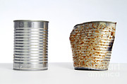 Tin Can Art - No Rust Vs Rust by Photo Researchers, Inc.