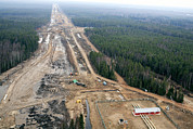Nord Prints - North European Gas Pipeline Construction Print by Ria Novosti