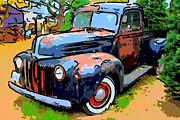 American Trucks Framed Prints - Nostalgic Rusty Old Truck . 7D10270 Framed Print by Wingsdomain Art and Photography