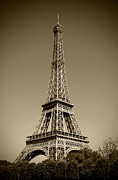 Paris In Sepia Framed Prints - Not a Cloud In Paris Framed Print by Kamil Swiatek